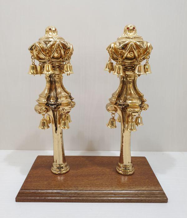 רימון לספר תורה דגם כתר מלכות זהב